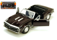 1967 CHEVROLET CAMARO SS CONVERTIBLE BLACK 1/24 SCALE DIECAST CAR MODEL BY MOTOR MAX 73301