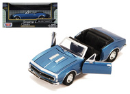 1967 CHEVROLET CAMARO SS CONVERTIBLE BLUE 1/24 SCALE DIECAST CAR MODEL BY MOTOR MAX 73301