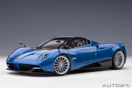 PAGANI HUAYRA ROADSTER BLUE FRANCIA 1/18 SCALE DIECAST CAR MODEL BY AUTOART 78286