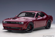 DODGE CHALLENGER SRT HELLCAT WIDEBODY 2018 OCTANE RED 1/18 SCALE DIECAST CAR MODEL BY AUTOART 71739