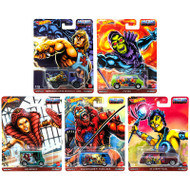 POP CULTURE 2020 MOTU MASTERS OF THE UNIVERSE CASE J SET OF 5 1/64 SCALE DIECAST CAR MODEL BY HOT WHEELS DLB45-946J