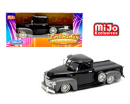1953 CHEVROLET 3100 TRUCK LOWRIDER BLACK 1/24 SCALE DIECAST CAR MODEL BY WELLY 22087