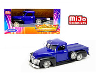 1953 CHEVROLET 3100 TRUCK LOWRIDER BLUE 1/24 SCALE DIECAST CAR MODEL BY WELLY 22087