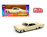 1965 CHEVROLET IMPALA SS 396 CREAM BEIGE LOWRIDER 1/24 SCALE DIECAST CAR MODEL BY WELLY 22417