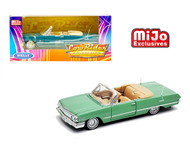 1963, CHEVY, CHEVROLET, IMPALA, SS, CONVERTIBLE, GOLD, LOW, RIDER, LOWRIDER, 1/24, SCALE, DIECAST, CAR, MODEL, BY, WELLY, 22434