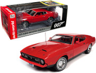 1971 FORD MUSTANG MACH 1 DIAMONDS ARE FOREVER 007 JAMES BOND 1/18 SCALE DIECAST CAR MODEL BY AUTO WORLD AWSS126