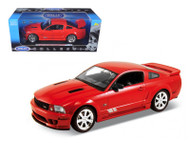 2007 Saleen Ford Mustang S281E Red 1/18 Scale Diecast Car Model By Welly 12569