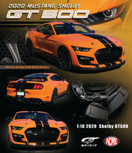 2020 FORD MUSTANG SHELBY GT500 TWISTER ORANGE 1/18 SCALE RESIN CAR MODEL BY GT SPIRIT US035