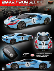 2020 FORD GT #1 HERITAGE EDITION 1966 LE MANS 1/18 RESIN MODEL BY GT SPIRIT ACME US027