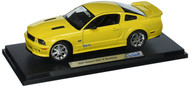 2007 Saleen Ford Mustang S281E Yellow 1/18 Scale Diecast Car Model By Welly 12569