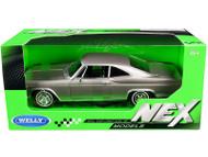 1965 CHEVROLET IMPALA SS 396 GREY 1/24 SCALE DIECAST CAR MODEL BY WELLY 22417