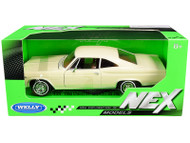 1965 CHEVROLET IMPALA SS 396 BEIGE 1/24 SCALE DIECAST CAR MODEL BY WELLY 22417