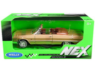 1963 CHEVROLET IMPALA SS CONVERTIBLE GOLD 1/24 SCALE DIECAST CAR MODEL BY WELLY 22434