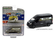 2020 FORD TRANSIT LWB HIGH ROOF TERRE HAUTE POLICE DEPARTMENT HOT PURSUIT 1/64 SCALE DIECAST CAR MODEL BY GREENLIGHT 30212