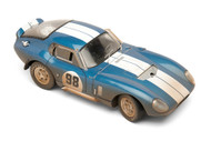 1965 SHELBY COBRA DAYTONA COUPE #98 BLUE AFTER RACE DIRTY VERSION 1/18 SCALE DIECAST CAR MODEL BY SHELBY COLLECTIBLES SC133