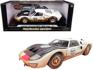 1966 FORD GT-40 MK II #98 WHITE AFTER RACE DIRTY VERSION 1/18 SCALE DIECAST CAR MODEL BY SHELBY COLLECTIBLES SC432