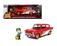 1959 FORD ANGLIA LUCKY CHARMS WITH LEPRECHAUN FIGURE 1/24 SCALE DIECAST CAR MODEL BY JADA TOYS 32200