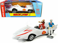 SPEED RACER MACH 5 WITH CHIM CHIM FIGURE & SPEEDRACER 1/18 SCALE DIECAST CAR MODEL BY AUTO WORLD AWSS124