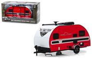2017 WINNEBAGO WINNIE DROP TRAILER CAMPER RV RED 1/24 SCALE DIECAST CAR MODEL BY GREENLIGHT 18450