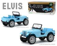 JEEP CJ-5 SIERRA BLUE ELVIS PRESLEY  1/18 SCALE  DIECAST CAR MODEL BY GREENLIGHT 19061