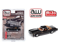 1975 CADILLAC ELDORADO BLACK LOWRIDER EXCLUSIVE 1/64 SCALE DIECAST CAR MODEL BY AUTO WORLD CP7719