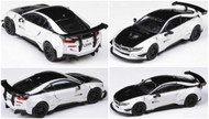 BMW I8 BLACK & WHITE LIBERTY WALK 1/64 SCALE DIECAST CAR MODEL BY PARAGON PARA64 55151