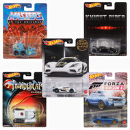 RETRO ENTERTAINMENT SET OF 5 1/64 SCALE DIECAST CAR MODEL BY HOT WHEELS