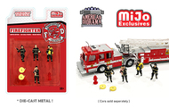 FIRE FIGHTER FIGURE SET LIMITED EDITION 1/64 SCALE FOR DIECAST CAR MODEL BY AMERICAN DIORAMA 76468
