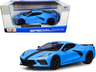 2020 CHEVROLET CORVETTE STINGRAY Z51 BLUE 1/24 DIECAST CAR MODEL BY MAISTO 31527