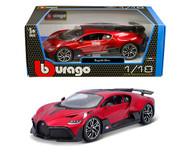 BUGATTI DIVO 2018 RED 1/18 SCALE DIECAST CAR MODEL BY BBURAGO 11045