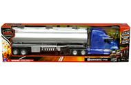 KENWORTH T700 OIL TANKER BLUE SEMI TRUCK & TRAILER 1/32 SCALE BY NEWRAY 12223