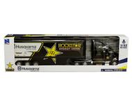 PETERBILT ROCKSTAR HUSQVARNA FACTORY RACE TEAM SEMI TRUCK & TRAILER 1/32 SCALE BY NEWRAY 10963
