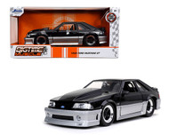 1989 FORD MUSTANG GT BLACK 1/24 SCALE DIECAST CAR MODEL BY JADA TOYS 32667