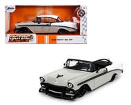 1956 CHEVROLET BEL AIR GREY 1/24 SCALE DIECAST CAR MODEL BY JADA TOYS 32696