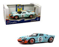 1969 FORD GT40 MK1 24HR LE MANS GULF #6 1/18 SCALE DIECAST CAR MODEL BY SOLIDO S1803003