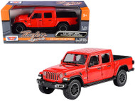 2021 JEEP GLADIATOR OVERLAND RED CLOSED TOP 1/27 SCALE DIECAST CAR MODEL BY MOTOR MAX 79365