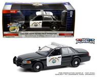 2008 FORD CROWN VICTORIA CHP CALIFORNIA HIGHWAY PATROL POLICE INTERCEPTOR 1/24 SCALE DIECAST CAR MODEL BY GREENLIGHT 85523