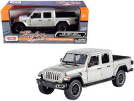 2021 JEEP GLADIATOR OVERLAND SILVER CLOSED TOP 1/27 SCALE DIECAST CAR MODEL BY MOTOR MAX 79365