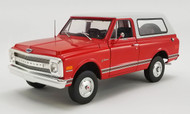1969 CHEVROLET K5 BLAZER RED 1/18 SCALE DIECAST CAR MODEL BY ACME 1807701