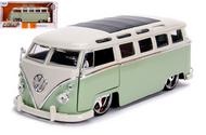 1962 VOLKSWAGEN SAMBA BUS VAN GREEN 1/24 SCALE DIECAST CAR MODEL JADA TOYS 99025