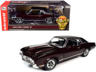 1970 OLDSMOBILE CUTLASS SX BURGUNDY CLASS OF 1970 1/18 SCALE DIECAST CAR MODEL BY AUTO WORLD AMM1245