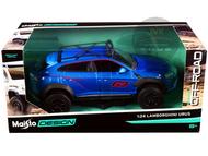LAMBORGHINI URUS OFF ROAD #63 BLUE METALLIC 1/24 SCALE DIECAST CAR MODEL BY MAISTO 32533