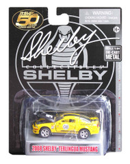 2008 FORD SHELBY MUSTANG TERLINGUA YELLOW 1/64 SCALE DIECAST CAR MODEL BY SHELBY COLLECTIBLES SC753
