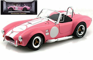 1965 FORD SHELBY COBRA 427 S/C PINK 1/18 SCALE DIECAST CAR MODEL BY SHELBY COLLECTIBLES SC 114