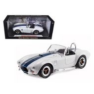 1965 FORD SHELBY COBRA 427 S/C WHITE 1/18 SCALE DIECAST CAR MODEL BY SHELBY COLLECTIBLES SC 115