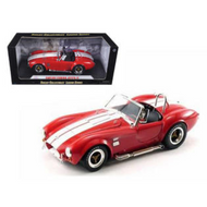 1965 FORD SHELBY COBRA 427 S/C RED 1/18 SCALE DIECAST CAR MODEL BY SHELBY COLLECTIBLES SC 122