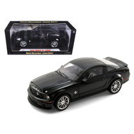 2008 FORD SHELBY MUSTANG GT500KR BLACK 1/18 SCALE DIECAST CAR MODEL BY SHELBY COLLECTIBLES SC 299
