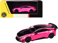 BMW I8 LIBERTY WALK HOT PINK WITH BLACK ACCENT 1/64 SCALE DIECAST CAR MODEL BY PARAGON PARA64 55150