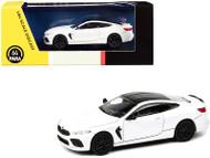 BMW M8 COUPE ALPINE WHITE 1/64 SCALE DIECAST CAR MODEL BY PARAGON PARA64 55214