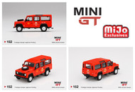 LAND ROVER DEFENDER 110 UK ROYAL MAIL POST BUS SUV MIJO EXCLUSIVE 3600 MADE 1/64 SCALE DIECAST CAR MODEL BY TSM MINI GT MGT00152